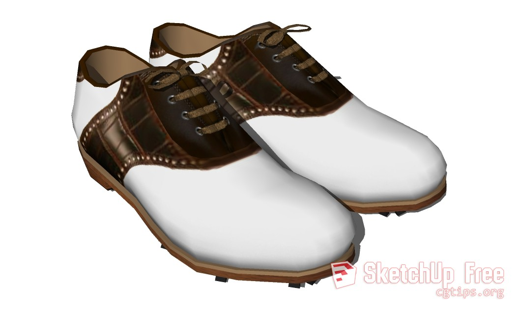 FF_Model_ID11111_1_GolfShoes_01 - Sketchup - 3D Model Free