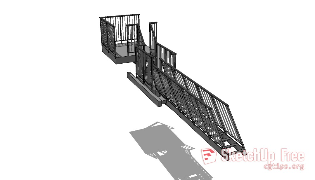 FF_Model_ID4987_3_Fire_escape_btm_up - Sketchup - 3D Model