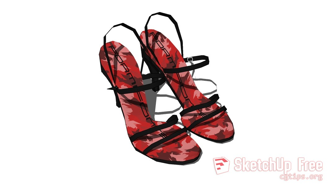 FF_Model_ID7078_1_shoes2CF1SU6 - Sketchup - 3D Model Free