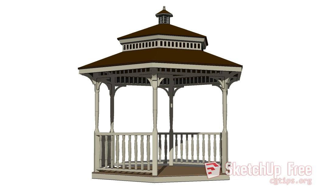 403 Gazebo set B 3D Sketchup Model Free Download