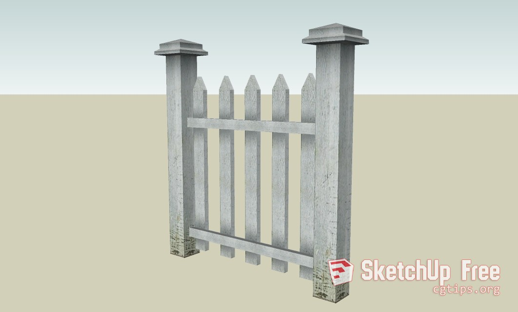 Wood Fence Home Fence Free 3d Model Max Open3dmodel 529440
