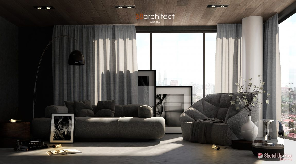 746 Interior Scene 1 By B8architect Sketchup Model Free Download