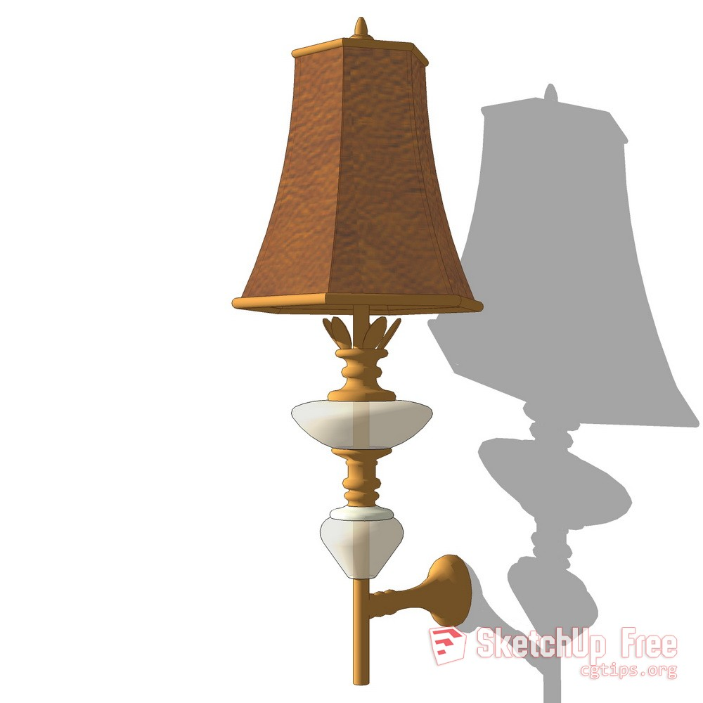 1083 Wall Light 007 Sketchup Model Free Download