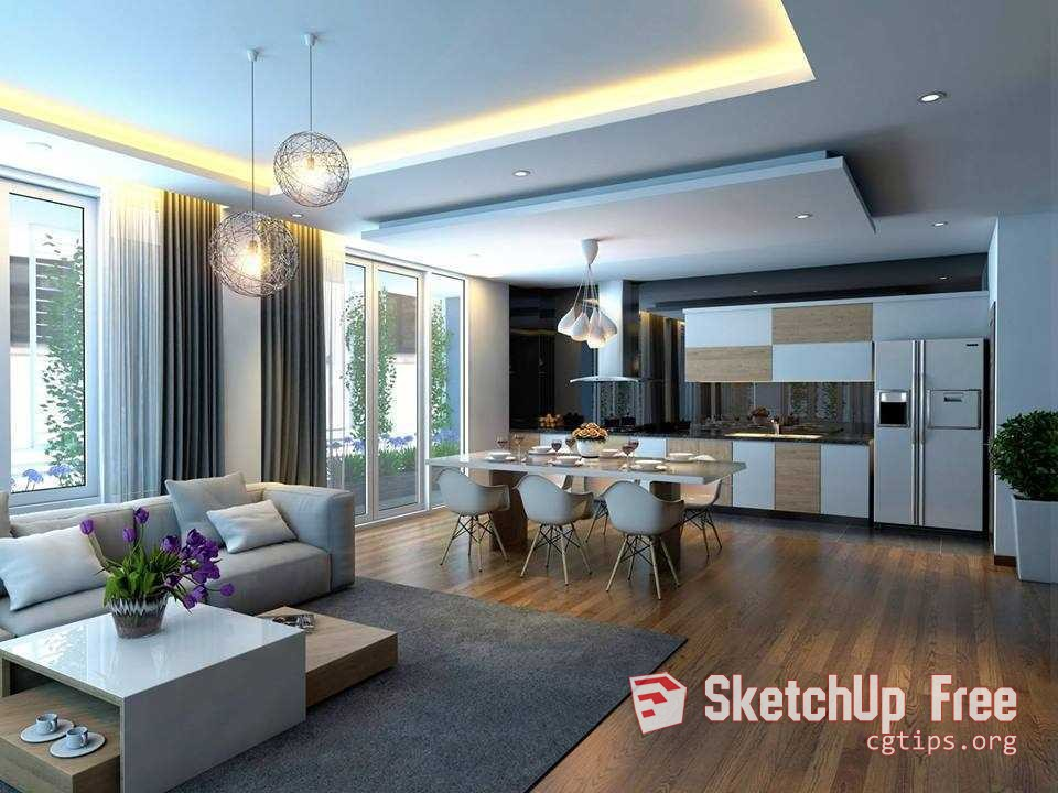 Living Room Sketchup Interior Design