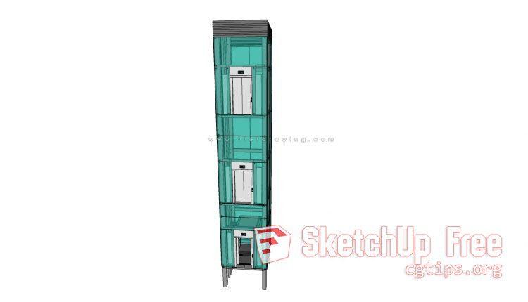 Elevator 001 - Sketchup - 3D Model Free Download