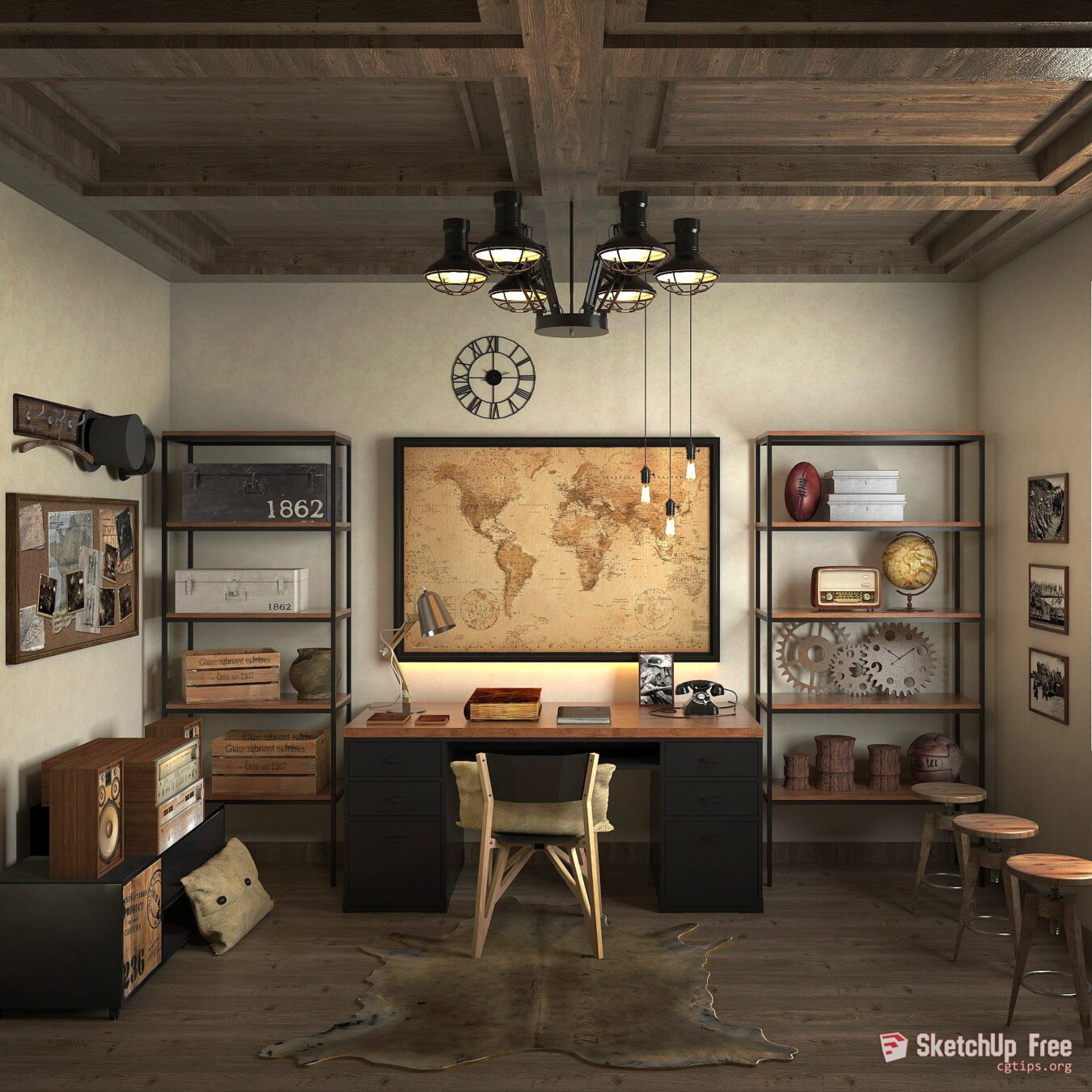 1206 Interior Office Sketchup Model By Alfonsus Sri Agseyoga
