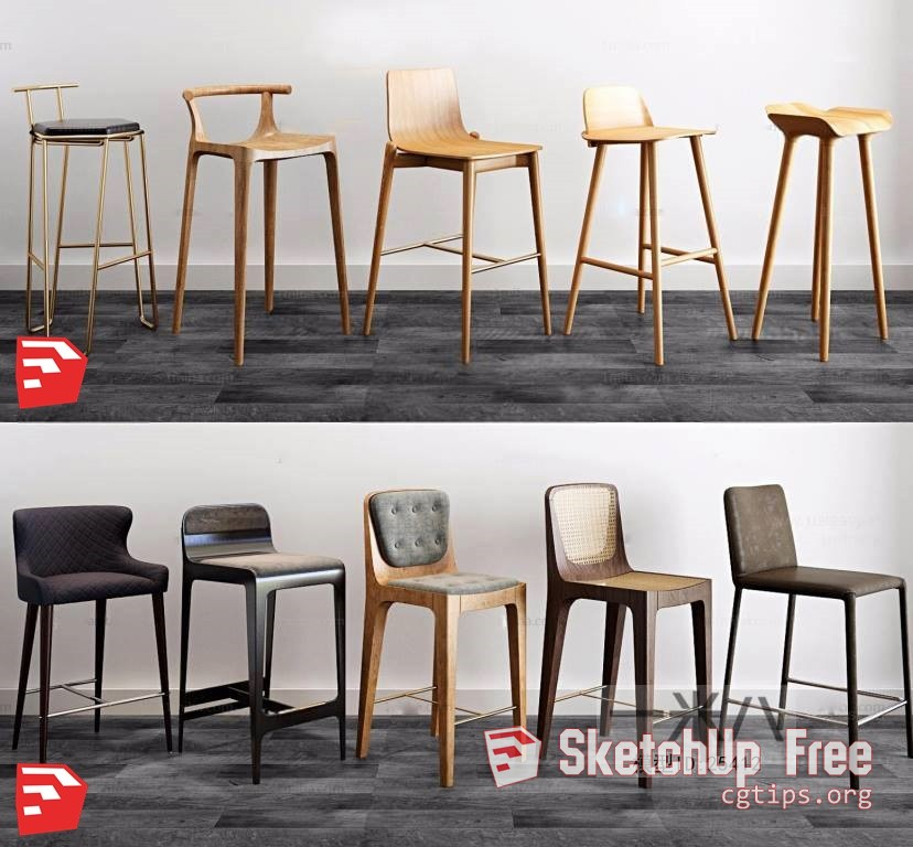 1495 Chair Sketchup Model Free Download