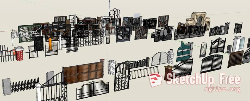 1505 Gates Sketchup Model Free Download