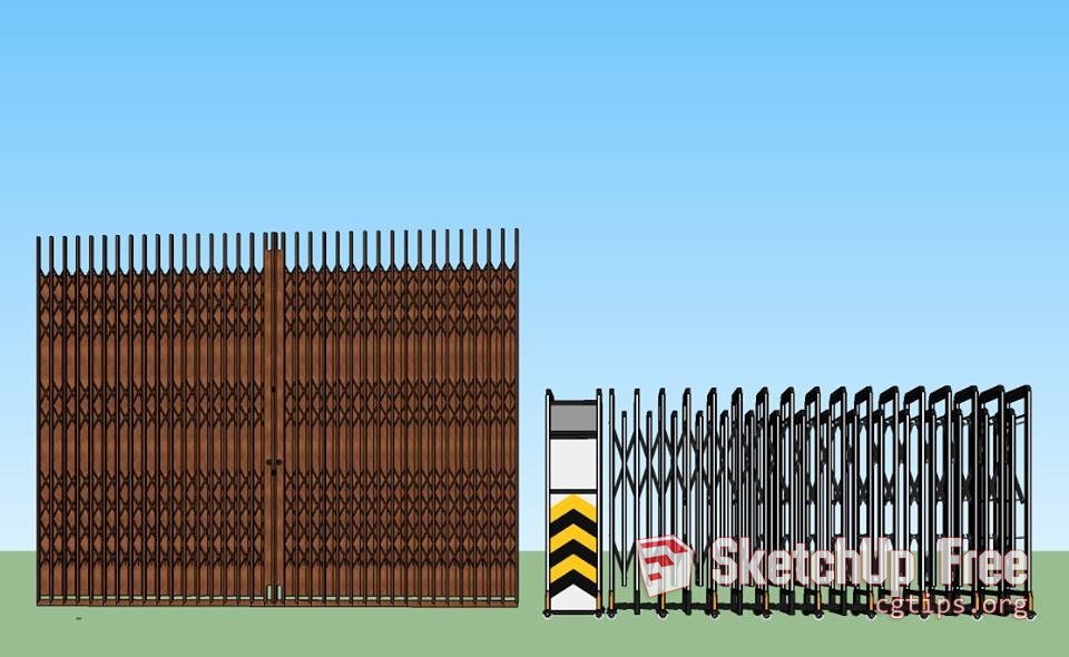1548 Iron Gate Sketchup Model Free Download - Sketchup - 3D
