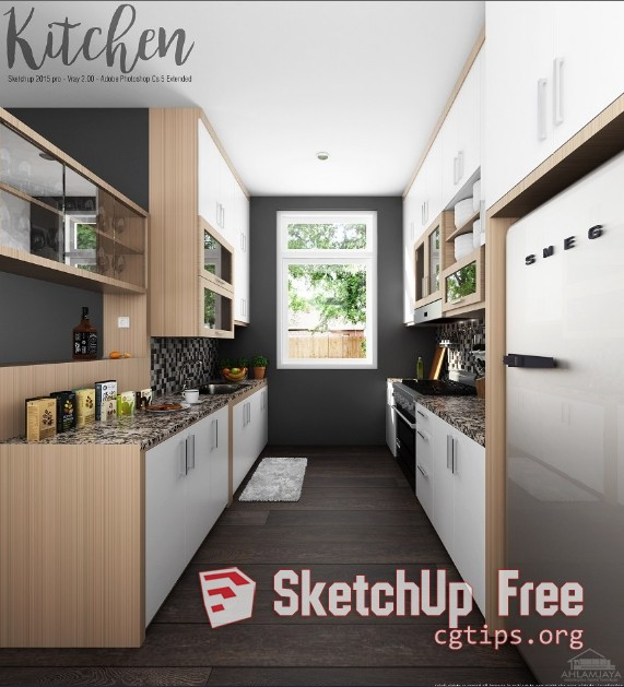 1708 Kitchen Sketchup Model Free Download 1 Sketchup 3d Model
