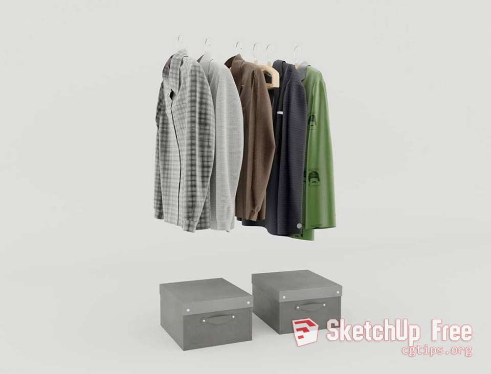 1711 Clothes Sketchup Model Free Download