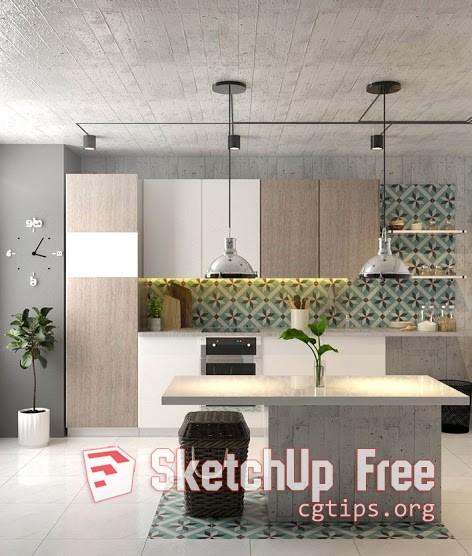 1766 Kitchen Sketchup Model Free Download - Sketchup - 3D