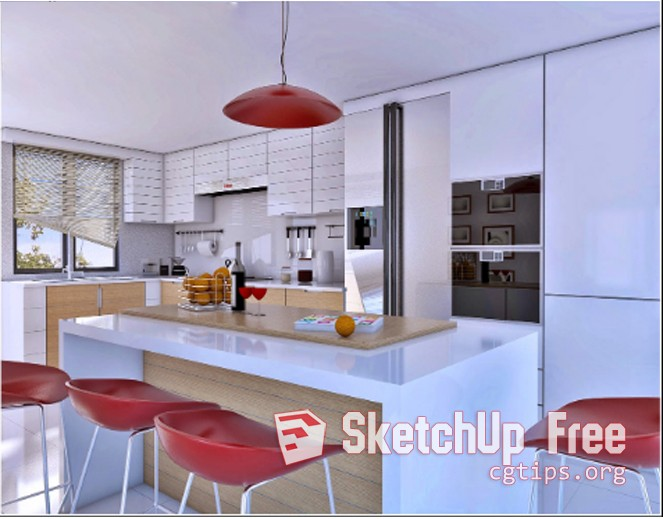 1771 Kitchen Sketchup Model Free Download