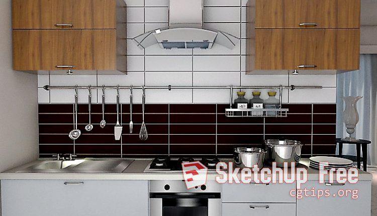 1780 Kitchen- Diningroom Scene Sketchup Model Free Download
