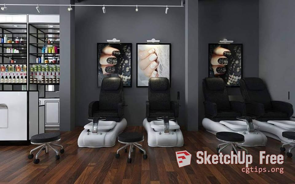 1927 Spa & Hair Salon Sketchup Model Free Download