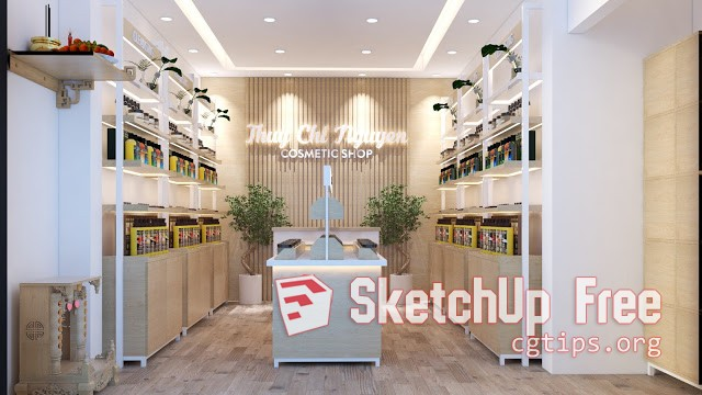 2221 Cosmetic Shop Sketchup Model Free Download