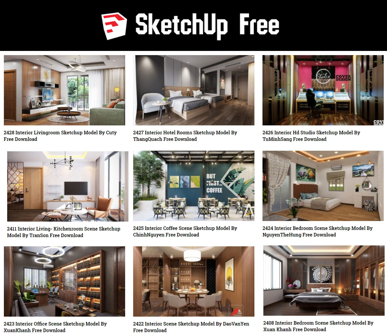 Free Download Sketchup Models For Architecture, 3d Ware
