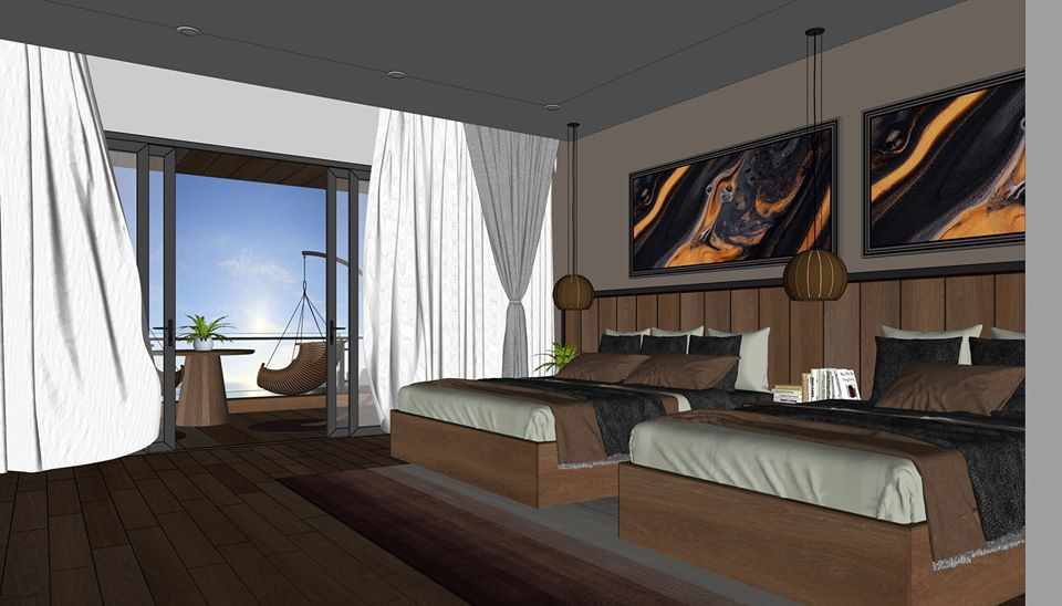 2583 Interior Hotel Rooms Scene Sketchup Model By Xuankhanh Free Download