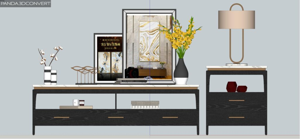 3390 Tv Cabinets Sketchup Model By KhanhTran Free Download