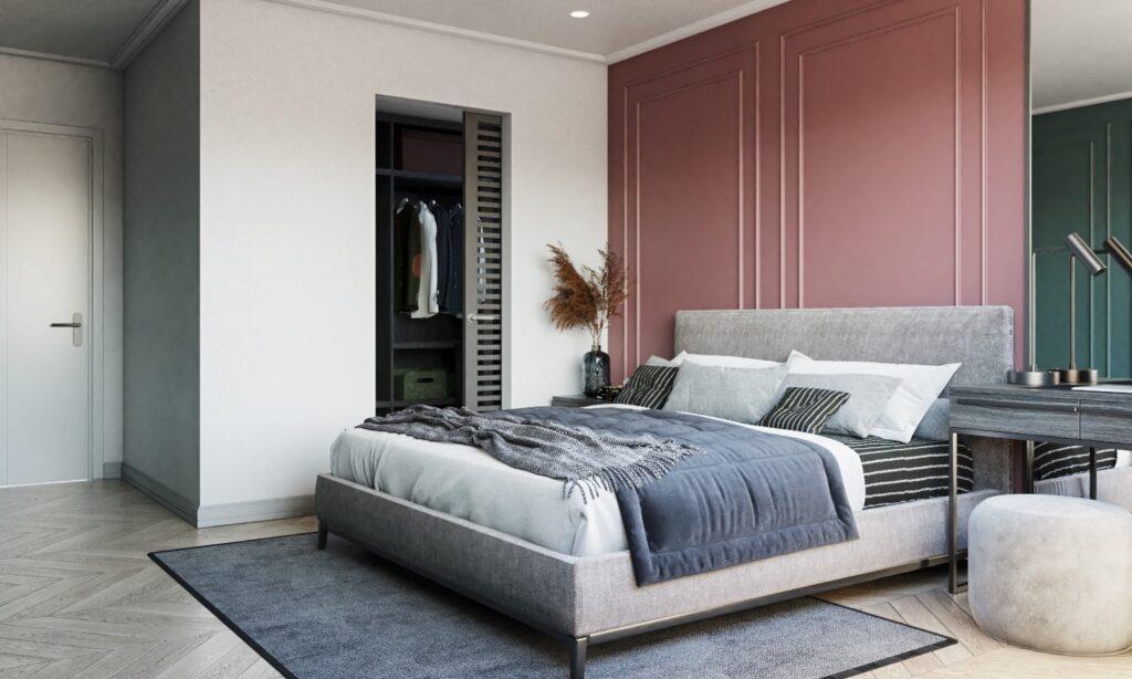 3407 Interior Bedroom Scene Sketchup Model by Lanh Leo