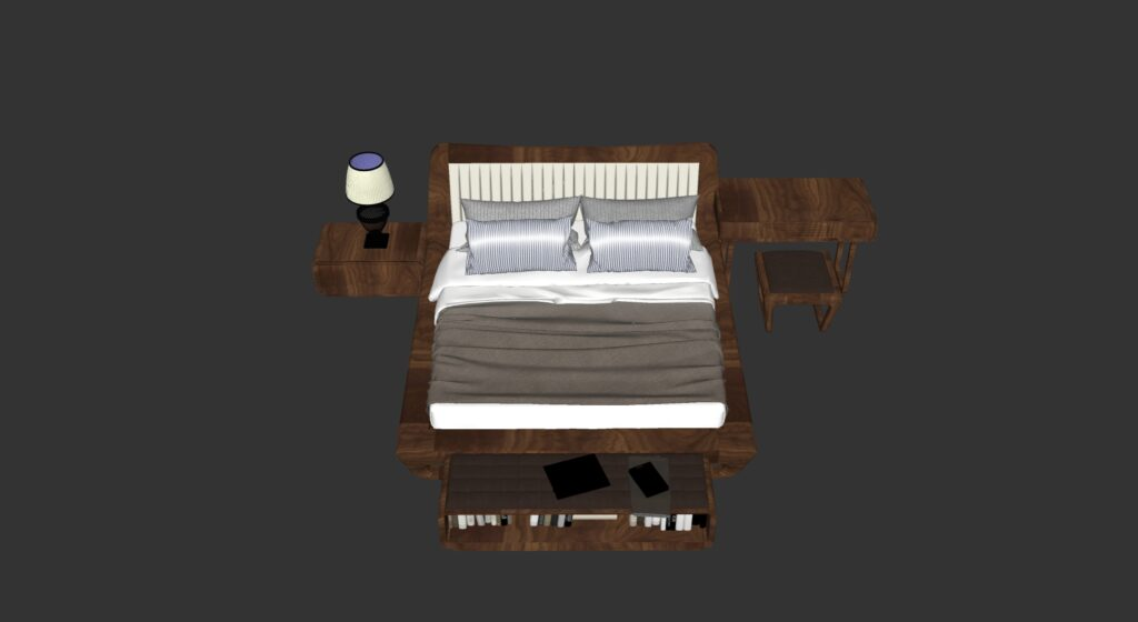 3486 Bed Sketchup Model Free Download