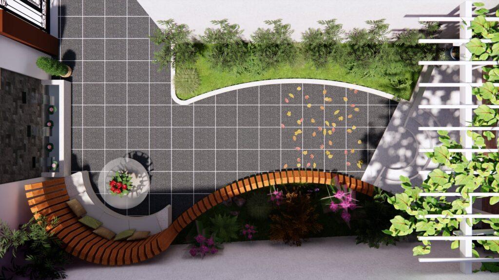 3756 Exterior Garden Scene Sketchup Model by Tu Thanh Tan