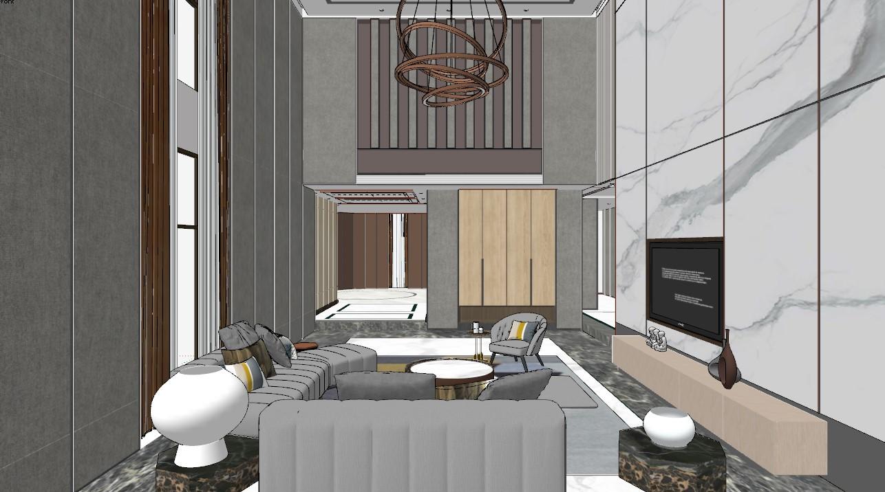 6260. Free Sketchup Interior Living room Models Download