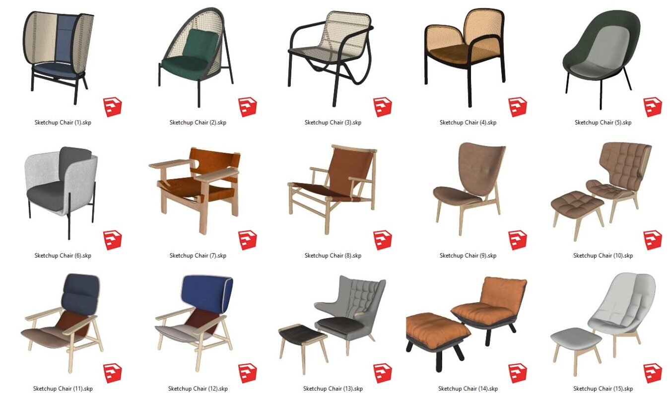 6327. Sketchup Chair Models For Free Download