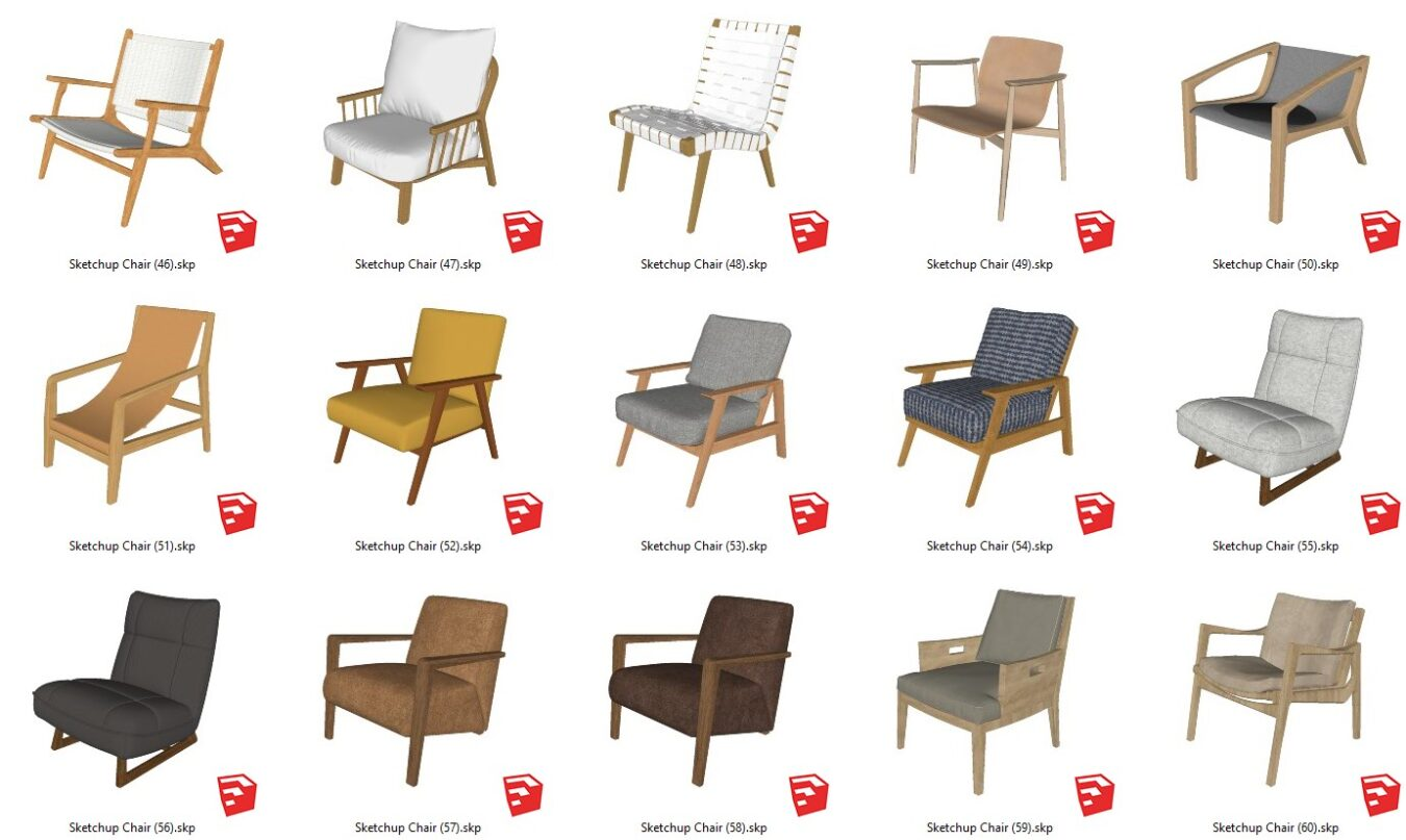 6330. Sketchup Chair Models For Free Download